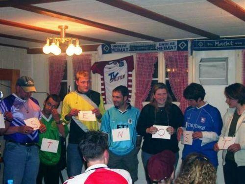 Saison 2001/2002 - Abschluss 1. Mannschaft Schützenhaus Aedermannsdorf 8.Juni 2002
