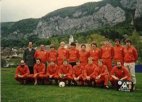 1.Mannschaft 1983 84 Trainingsanzug 138 Photo 1983 03