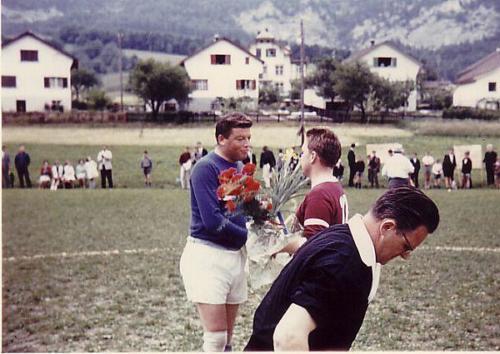 Aufstiegsfeier 1965 Match Strähl Gfeller Photo 05