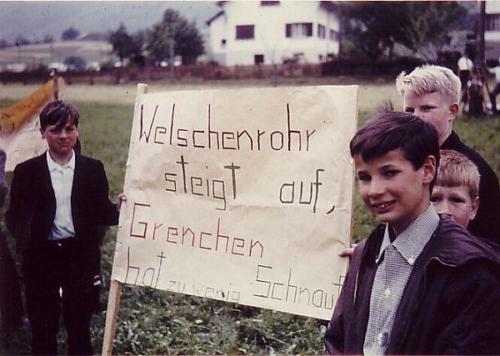 Aufstiegsfeier 1965 Transparent Photo 13